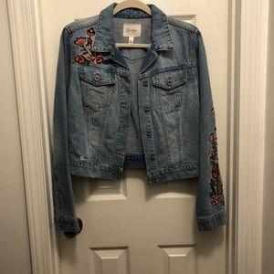 Denim Jacket with Embroidered Design